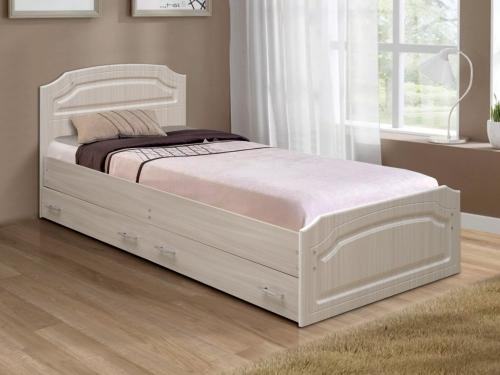 Кровать одинарная Венеция 3 матовая с ящиками
