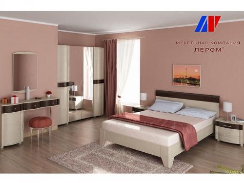 Спальня Дольче Нотте Дуб беленый комбинированный