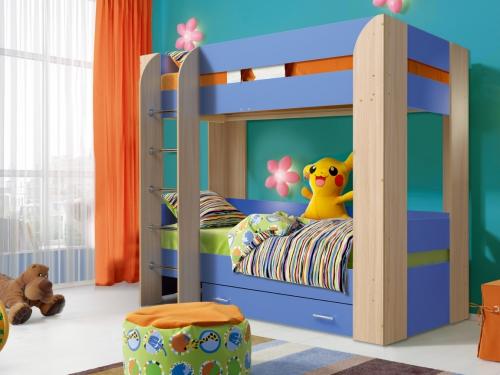 Кровать детская двухъярусная Юниор-6 с ящиком