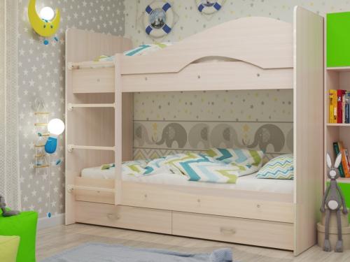 Кровать двухъярусная Мая с ящиками