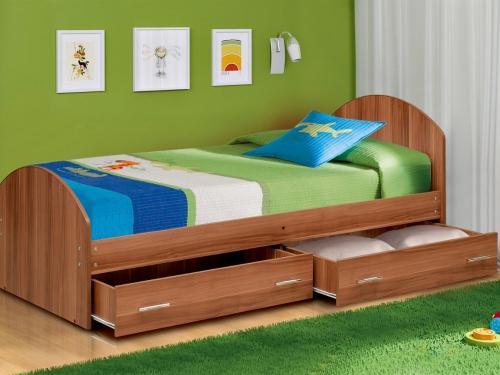 Кровать одинарная на уголках No 2 с ящиками Матрица