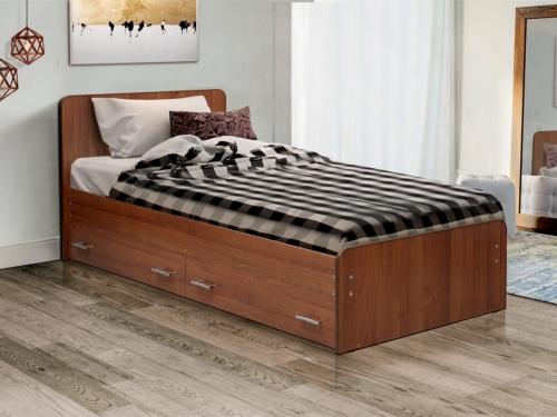 Кровать одинарная на уголках No 5 с ящиками Матрица