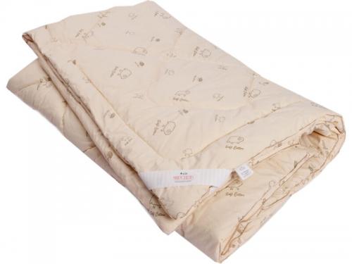Одеяло стеганое на овечьей шерсти всесезонное