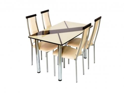 Стол со стеклом Маэстро