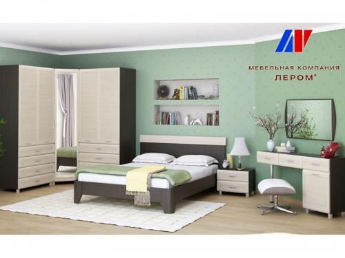Спальня Мелисса Дуб Венге-Дуб Беленый