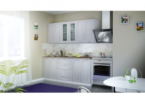 Кухня Патина серебро